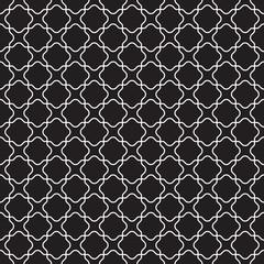 Seamless vintage moroccan lattice trellis pattern background