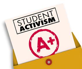 Student Activism Report Card Social Awareness 3d Illustration