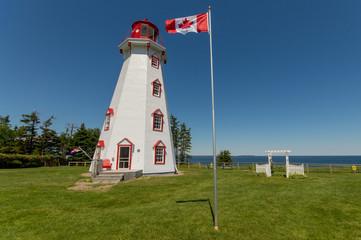 Lighthouse with Canada flag