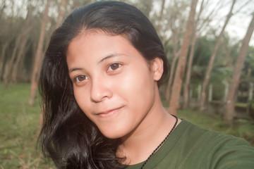 Beautiful YoungThailand  Asian Girl  Teenage Portrait