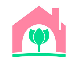 lotus house home plant flower flora stem nature image vector icon