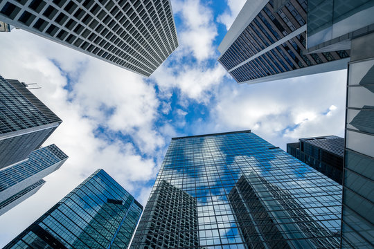 Modern building office at Central Business District in Hongkong city, Hong Kong