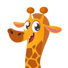 Cartoon giraffe. Vector giraffe illustration