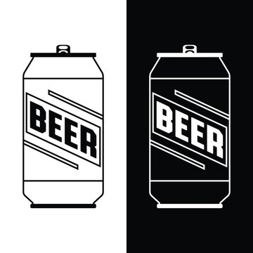 A simple beer can icon in vector format.