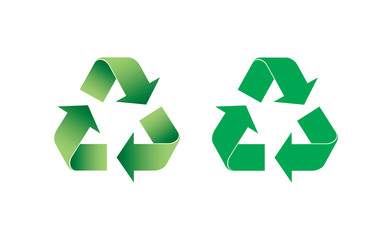 Recycle logo vector icon on white background,for graphic design,Website, EPS 10