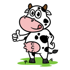 Cartoon Cow Character