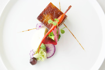 Exquisite dish, creative restaurant meal concept, haute couture food