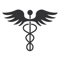 caduceus medical symbol icon vector illustration design