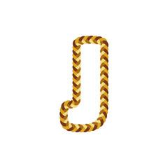 J Braid Letter Logo Icon Design