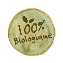 étiquette 100% Biologique