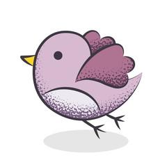 Oiseau dessin rose