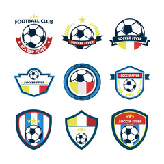 Soccer Fever Football Club Emblem Set
