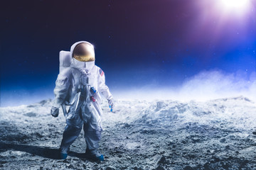 Astronaut standing on the moon Elements of this image were NO