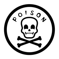 Poison Label Vector Graphic
