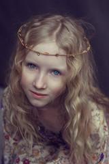 Girl in hippie style