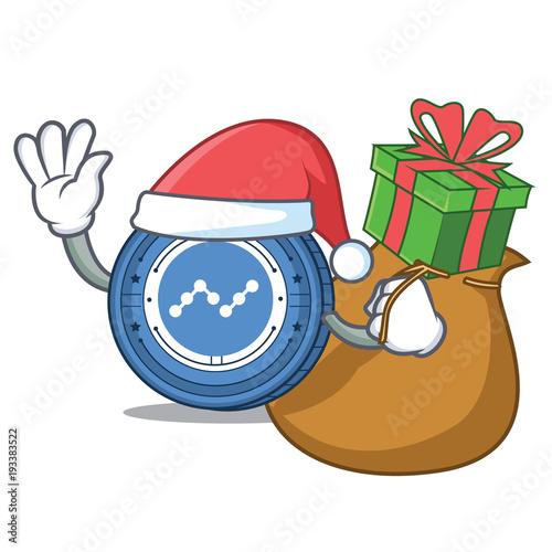 Santa with gift nano coin mascot cartoonfotolia santa with gift nano coin mascot cartoon negle Image collections