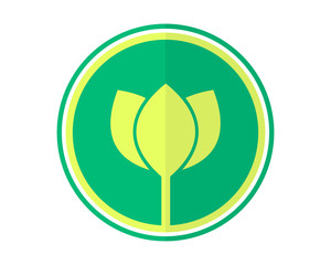 circle lotus flower flora floral plant nature image vector icon