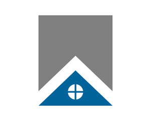 blue roof house housing home residence residential real estate image vector icon
