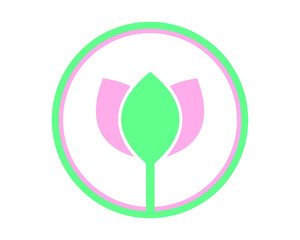 circle lotus flower flower flora floral plant nature image vector icon