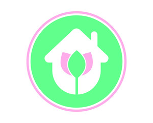 house lotus plant flower flora stem nature image vector icon