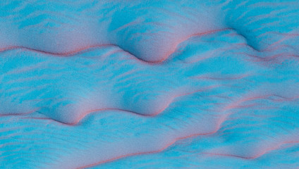 Blue sand texture background.