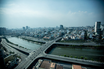 A view of HCMC from the offices of the tech company Glass Egg Digital Media