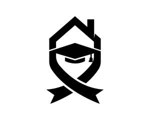 black scholar graduation cap hat image vector icon