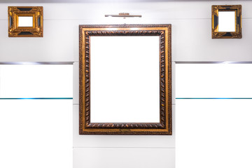Mock Empty Antique Frames