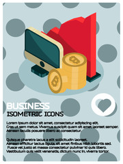 Business isometric poster