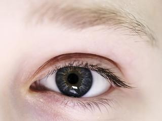Girl's eyes close up