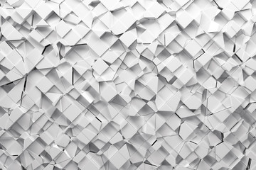Abstract paper broken square 3d-render background.