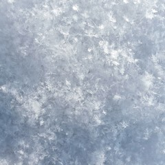 the texture of fresh snow, see individual snowflakes