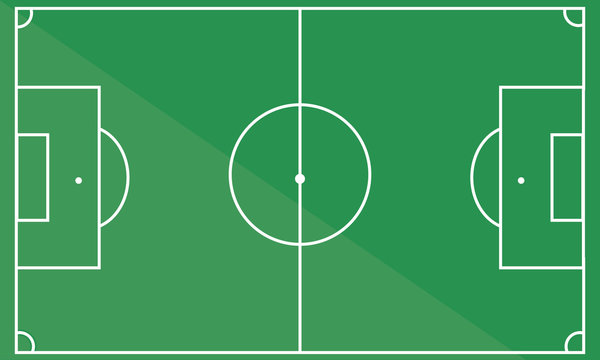 football field. soccer field. vector