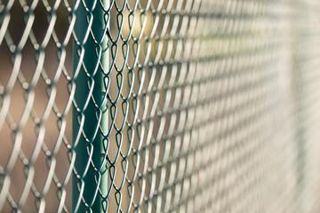 fence metal in sun