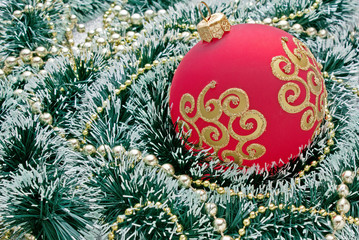 Christmas decoration  on Christmas background
