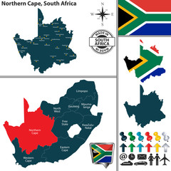 Map of Northern Cape, South Africa