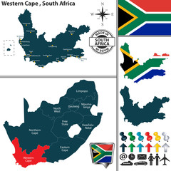 Map of Western Cape, South Africa