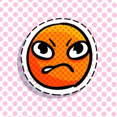 Angry smile emoji