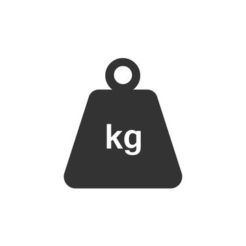 Pictograph of weight. Flat vector illustration in black on white background.