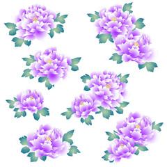 日本的な牡丹花,