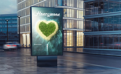 Papiers peints Océanie honeymoon billboard on the street