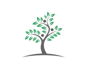 Tree ecology nature element vector icon