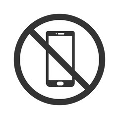 No phone icon. Flat vector illustration in black on white background.