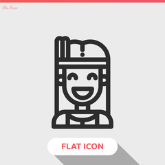 native american vector icon