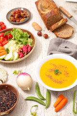 selection of vegan food