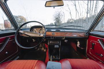 Interior of retro car