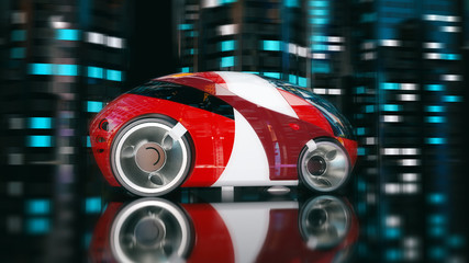 Car design - 3D Illustration