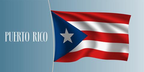 Puerto Rico waving flag vector illustration