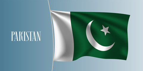 Pakistan waving flag vector illustration