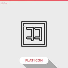 kanji vector icon